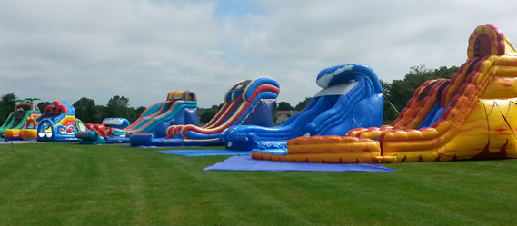 Information about bouncy water slide rental